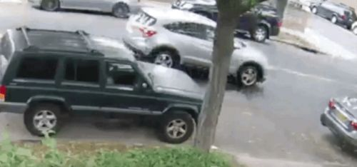 SUV Gets Rear-Ended And Then Carjacked By The Passenger In The Car That Rear-Ended It