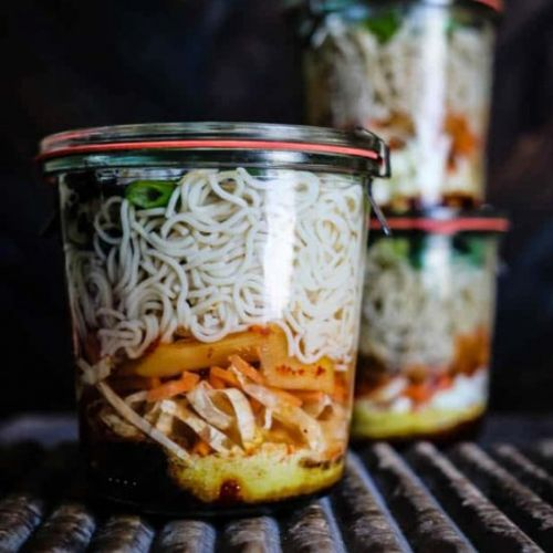 Gluten-Free Instant Noodle + Kimchi