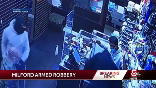 Milford police searching for armed robbery suspects