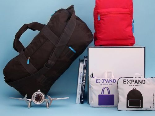 This duffle bag packs down to the size of a small book - but it holds a surprising amount of stuff