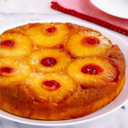 Pineapple Rum Upside-Down Cake