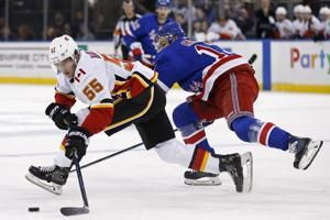 Gaudreau, Hathaway score twice as Flames top Rangers 4-1