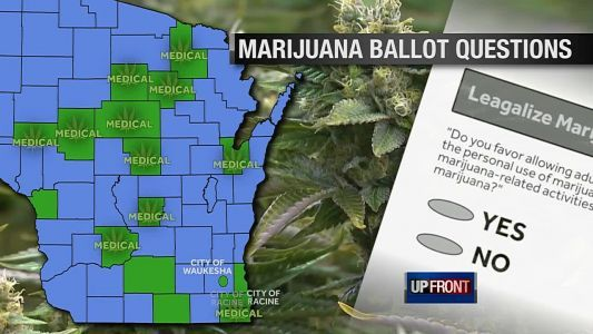 'UPFRONT' recap: Some Wisconsinites will vote on marijuana legalization issue next month