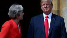 Trump Calls His Theresa May Brexit Criticism 'Fake News'