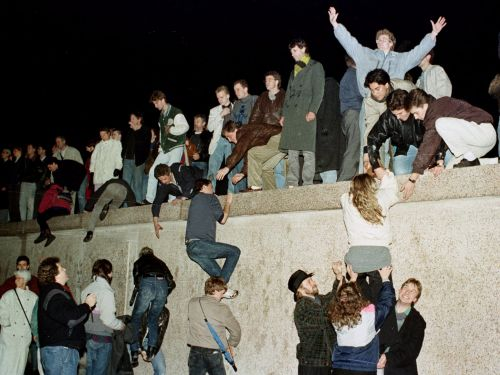 21 stunning photos from the night the Berlin Wall came tumbling down 30 years ago