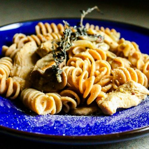 Pasta with Chicken and Mushrooms