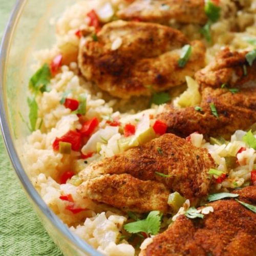 ONE DISH INDIAN-SPICED CHICKEN