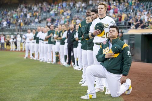 MLB star Bruce Maxwell will no longer kneel during national anthem
