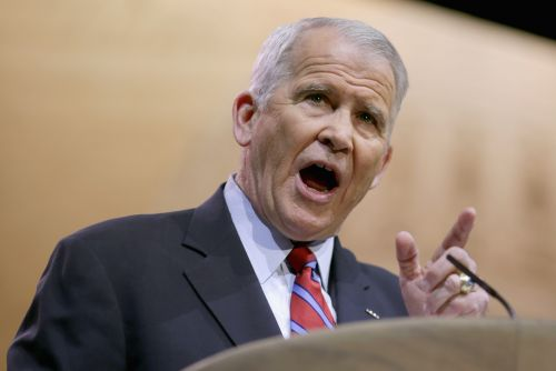 NRA's Oliver North Blames 'Culture of Violence' for Mass Shootings, But Once Promoted Violent Video Game