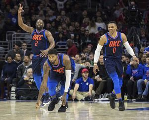Westbrook helps Thunder outlast 76ers in triple overtime