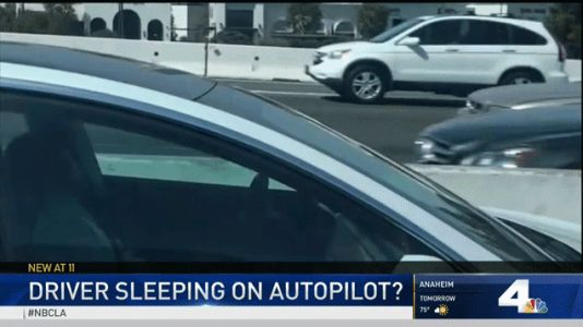 Tesla Driver Imitates Regulators by Appearing to Fall Asleep With Autopilot On