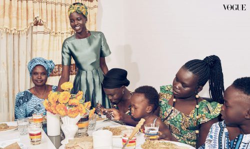 Adut is Home for the Holidays for Vogue Australia