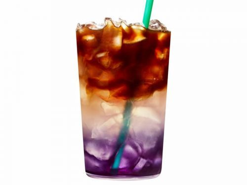 Starbucks' newest cold brew changes color when you drink it, and it might be their most extra drink yet