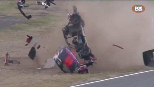 Aussie Racing Car Driver Somehow Totally Fine After His Car Shatters Into A Million Pieces