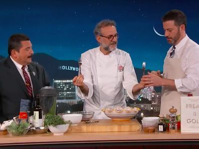 Watch Massimo Bottura Turn Jimmy Kimmel's Garbage Into a Delectable Feast