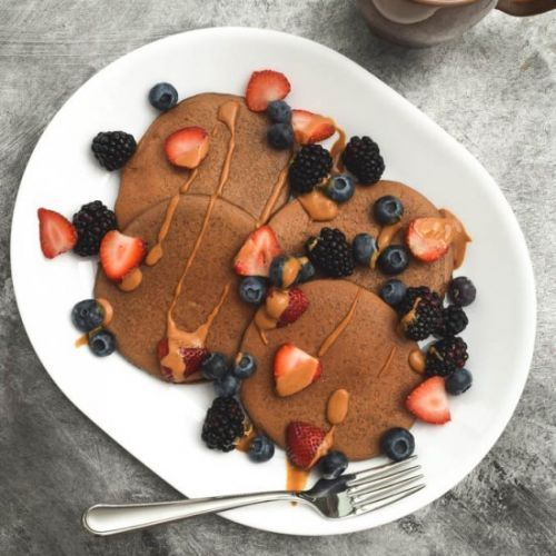 Chocolate Protein Pancakes for 1