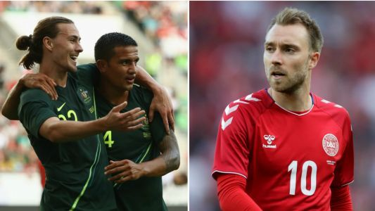 Socceroos come from behind to draw with Denmark