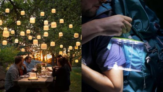 Save Big On Your Choice of Inflatable, Solar-Powered Camping Light, Today Only
