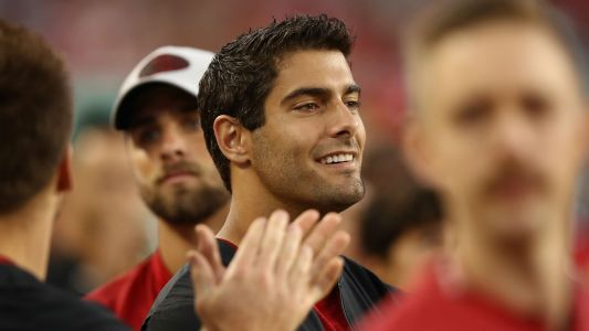 San Francisco QB Jimmy Garoppolo rejoins team for meetings
