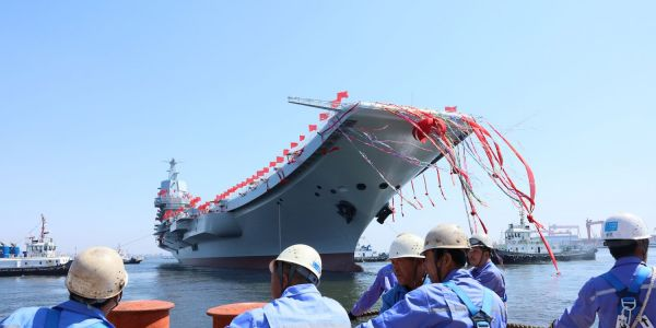 13 photos of Type 001A, China's first domestically built aircraft carrier