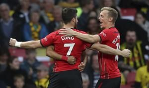 Long scores quickest EPL goal in Southampton draw at Watford