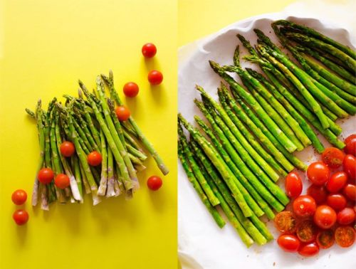 Perfect Side: Roasted Asparagus and Romesco Sauce