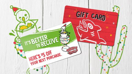 Fuzzy's Taco Shop Announces Holiday Gift Card and Bonus Card Campaign - Because Sometimes It's Better to Receive