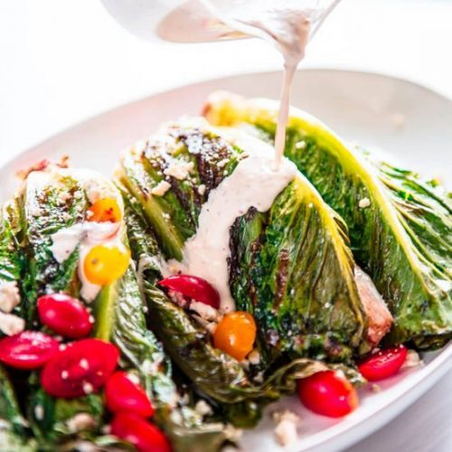 Easy Grilled Romaine