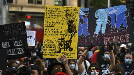 Thousands join Black Lives Matter protests in Australia, anger spills over into clashes