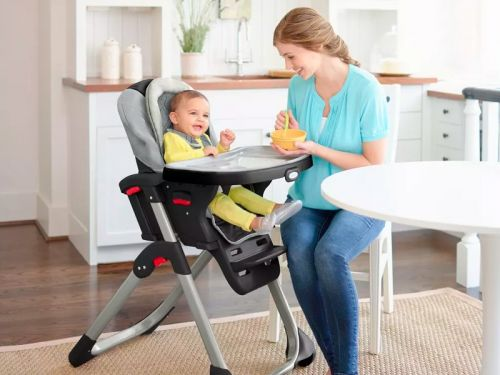 This high chair can be used 3 different ways as your baby gets older - it will take my daughter through toddlerhood