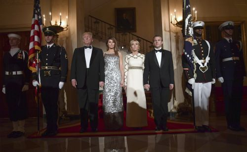 President Trump hosts first state dinner with French President Emmanuel Macron