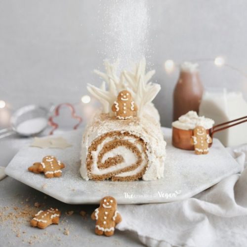 Gingerbread yule log