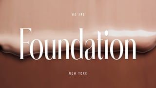 Foundation is Seeking Spring '20 Interns in New York, NY