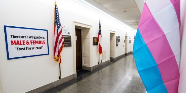 Facebook deleted a video of Rep. Marie Newman installing a transgender flag in front of her office but Rep. Marjorie Taylor Greene's anti-transgender post was untouched