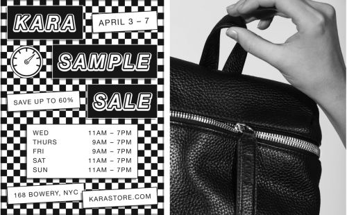 KARA ANNUAL SAMPLE SALE - NYC & ONLINE