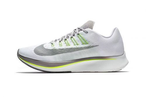 "Nike Treats the Zoom Fly to A ""White/Sport Grey/Volt"" Makeover"
