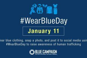 Houston Airports Supporting The Fight Against Human Trafficking On Wear Blue Day