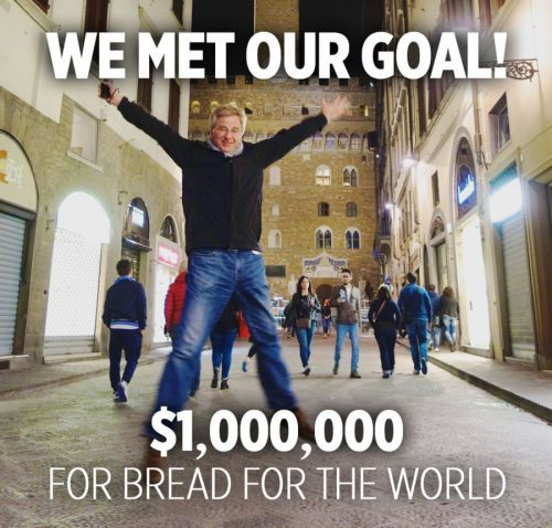 $1,000,000 for Bread for the World