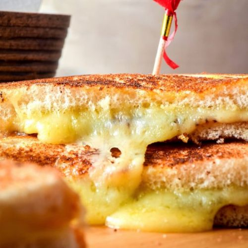 Electric Skillet Grilled Cheese