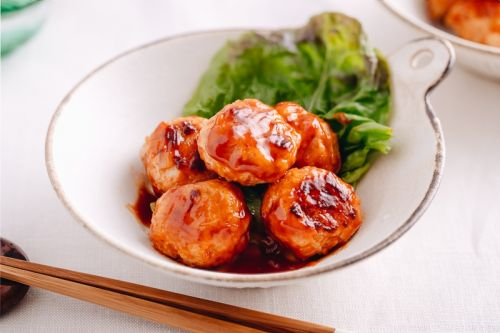 Chicken Meatballs with Sweet and Sour Sauce チキンミートボール甘酢和え