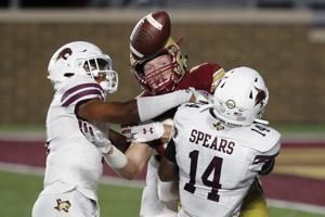 BC rallies from 14-points down, beats Texas State 24-21
