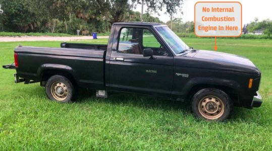 This Manual Transmission Electric Ford Ranger Has A 30 Mile Range And It's For Sale