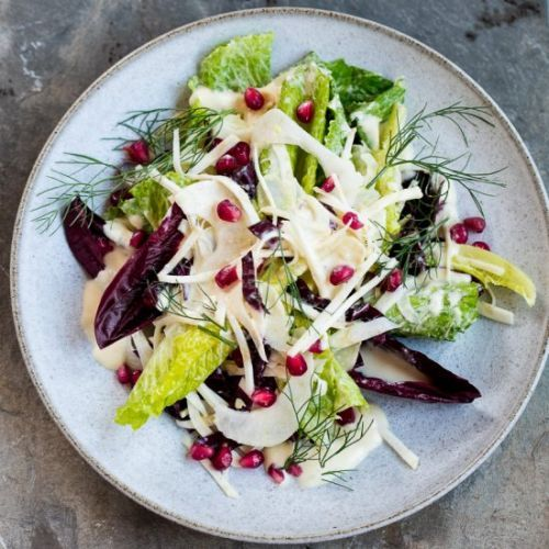Winter Salad with Lemon Cream