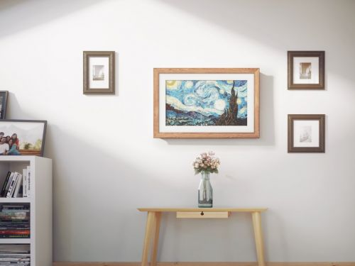 What it's like to use the Meural Canvas, a $600 smart art frame that lets you switch images with a wave of the hand