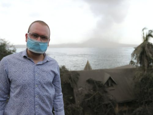 As thousands of people evacuate, we visited the ghost town at the foot of the erupting volcano in the Philippines