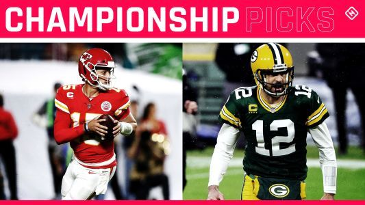 NFL playoff picks, predictions: Packers edge Buccaneers, Chiefs hold off Bills in championship games