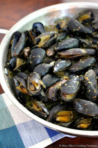 Mussels Roasted in Almond Garlic Butter