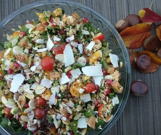 Colors of the Autumn Bulgur Wheat Salad
