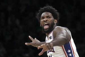 Joel Embiid responds to criticism to lead 76ers past Celtics