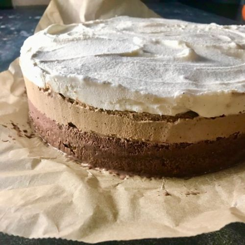 Greek Coffee Frappe Ice Cream Cake